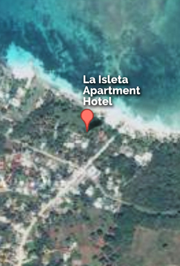 Our location on Google Map - La Isleta Apart Hotel in Las Galeras.